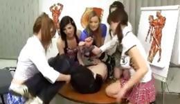 Watch libidinous college girls seducing young handsome techer