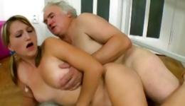 Watch on horrible grey haired teacher pouring this little cutie in different poses