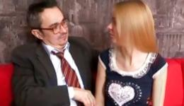Blonde marvelous sweetheart is going crazed with teacher's huge schlong