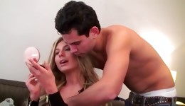 Golden haired goes nasty with a big pecker and was fucked