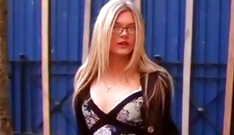 Blonde sexually bizarre bitch is demonstrating her ill manners