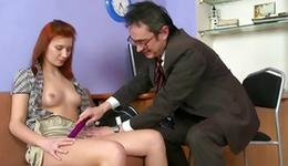 Thrilling red head slut is giving a deepthroat an old perfect sensuous dog