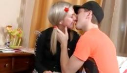 Blonde marvelous sweetie is getting her tight genitals spurted with the huge cock
