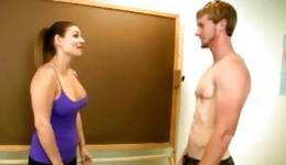 Lovely and bawdy male having his pecker licked by awesome lady