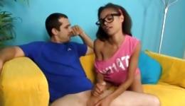 You will be glad to see this adorable young floozy shagging with nice man