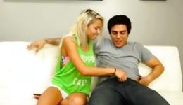 Stunning blonde cannot stop grind perfect male member of her bf
