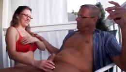 This ugly woman can give unbelievable blowjob to her randy man